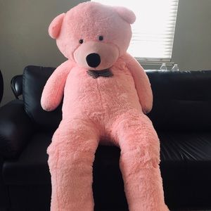 Giant pink teddy bear